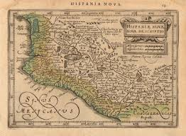 Map Of New Spain by Hondius Antique Map Of New Spain Mexico 1630