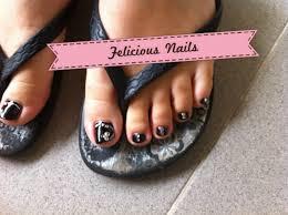 black nail polish felicious nails