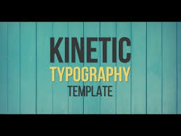 after effects template kinetic typography youtube