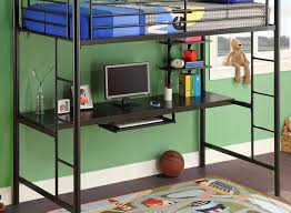 Bunk Bed With Crib On Bottom Bookcase Murphy Desk Combo Horizontal Twin King Size Bunk With