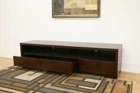 simple old low profile media console with drawer and storage