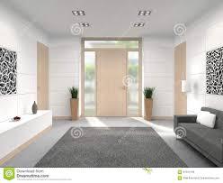 modern hallway front door interior stock illustration image
