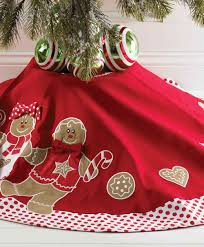 46 inch gingerbread christmas tree skirt gingerbread red