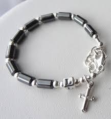 baby rosary bracelet sterling silver baby boy baptism personalized rosary bracelet