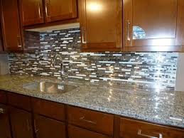 Kitchen Backsplash Glass Tiles Small Kitchen Decorating Design Ideas Using Brown Kitchen