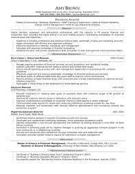 cover letter resume examples for finance resume samples for