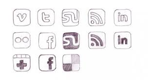 13 hand drawn social media icons set png welovesolo