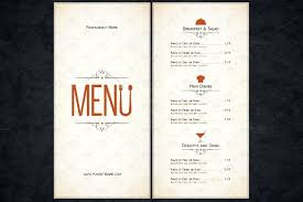 free restaurant menu template word samples csat co