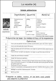 vocabulaire recette de cuisine mimiclass