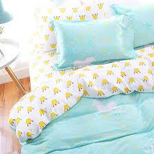 Duvet Sets Sale Wholesale Cotton Scandinavia Kawaii Crown Unicorn Bedding Set Teen