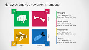 free flat swot analysis presentation template slidemodel