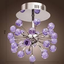 Ceiling Lights For Bedrooms Lightinthebox 6 Light Floral Shape K9 Crystal Ceiling Light Purple