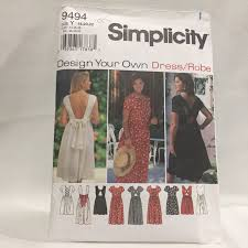 design your own dress simplicity pattern 9494 design your own dress size 6 10 ebay