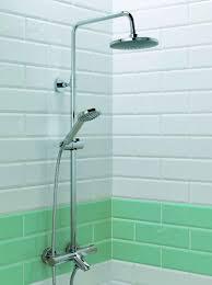 stroma thermo bath shower mixer round head with fixed rail kit stroma thermo bath shower mixer round head with fixed rail kit