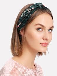 velvet headband calico print twist velvet headband shein sheinside
