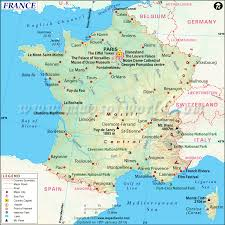 Where Is Chicago On A Map by France Map Map Of France