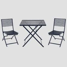 target folding patio table aluminum slat 3pc folding patio bistro set blue project 62 target