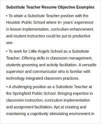 Substitute Teacher Resume Job Description Example Of Teacher Resume Dance Teacher Resume Dancing Job