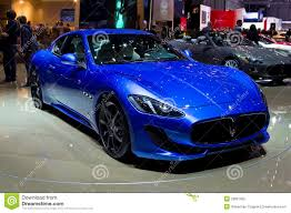 blue maserati granturismo maserati granturismo sport stock photo image of face 50183662