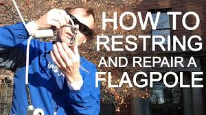 Flag Pole Repair Flagdesk Com How To Replace Flag Pole Proper Knot And