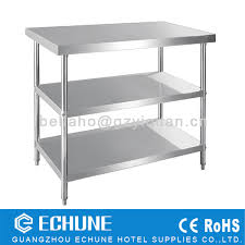 Metal Work Tables Restaurant Kitchen Heavy Duty Stainless Steel Work Table With 3