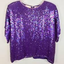lavender blouses honeybee hb honeybee blouse l sequined silk vintage purple from
