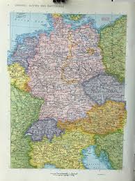 Germany Map Freiburg by Vintage 1967 Rand Mcnally World Atlas Map Page France Map On One