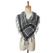 arab wrap men women grid scarf arab keffiyeh palestine arab shemagh tassel