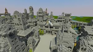 minecraft halloween city osgiliath ancient capital of gondor minecraft project