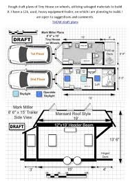 Big Houses Floor Plans One Tiny House Floor Plans On Wheels Best Design For Tiny Houses