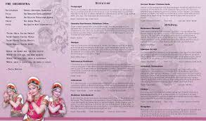 Arangetram Invitation Cards Samples Arangetram Brochure New Zealand Indian Classical Dance And