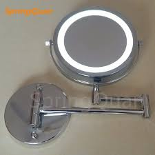 round makeup mirror with lights springquan 7 inch metal fashion makeup mirror battery led bathroom