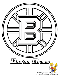 boston bruins hockey free coloring pages nhl hockey east
