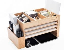 Desk With Charging Station Wood Desk Accessories Home Office Storage Desk Set Docking