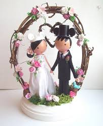disney bride and groom woodland wedding cake topper disney every day