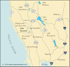 sonoma california map map and directions to lake sonoma ca