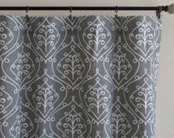 gray white curtains etsy