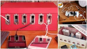 get organized diy shoe box charging station on the hunt