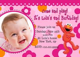 elmo birthday invitations template ideas