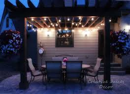 adding string patio lights to the pergola the best prices i found