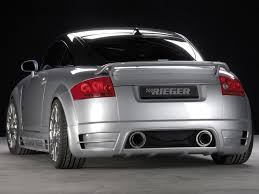 rieger audi audi tt mk1 rear bumper skirt for rieger kit