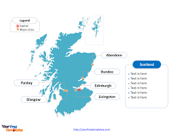 World Map Scotland by Free Scotland Editable Map Free Powerpoint Templates