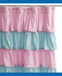 Anthropologie Ruffle Shower Curtain by Circo Pink Ruffle Curtain Home Design And Decoration