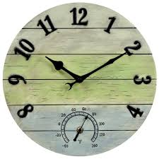 the 24 outdoor lighted atomic clock outdoor clocks outdoor decor the home depot