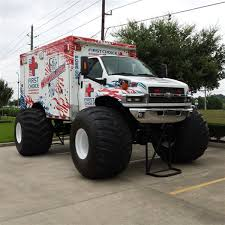 monster truck show houston tx pearland first choice emergency room monster truck ambulance