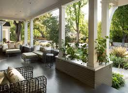 splashy porch columns look san francisco traditional porch