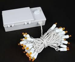 amber mini led christmas lights 50 led battery operated christmas lights amber orange on white wire
