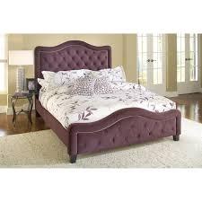 Upholstered Bedroom Sets Hillsdale Trieste Upholstered Low Profile Bed Pewter Hayneedle