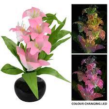 Display Vase Rgb Colour Changing Flower Vase Mood Light Display Led Fibre Optic