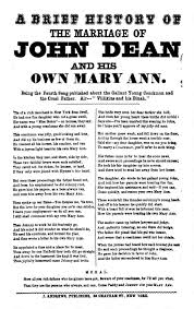 a brief history of the marriage of john dean and his own mary ann